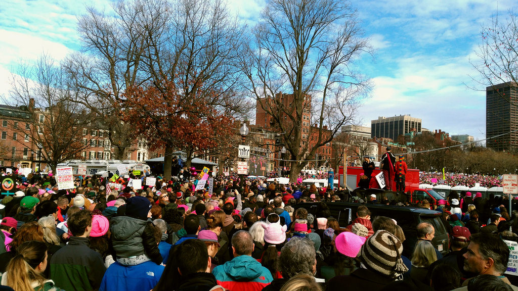 The Women's March in Boston